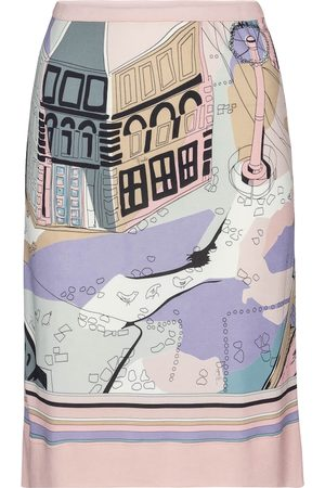Emilio Pucci Printed high-rise jersey midi skirt