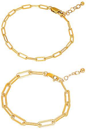 Jordan Road Jewelry Bracelets - For FWRD Le Duo Bracelet Stack in Metallic