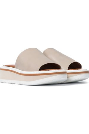 Robert Clergerie Women Sandals - Fast leather platform slides