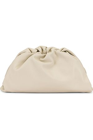 Bottega Veneta Clutches - Leather Pouch Clutch in Neutral