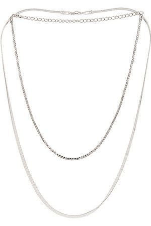 Jordan Road Jewelry Necklaces - For FWRD Gramercy Necklace Stack in Metallic