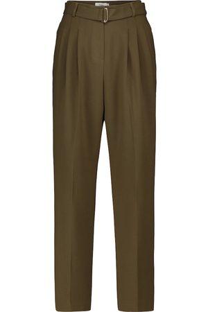 Frankie Shop High-rise straight pants
