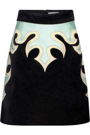 ZIMMERMANN Ladybeetle Mystic stretch-cotton velvet miniskirt