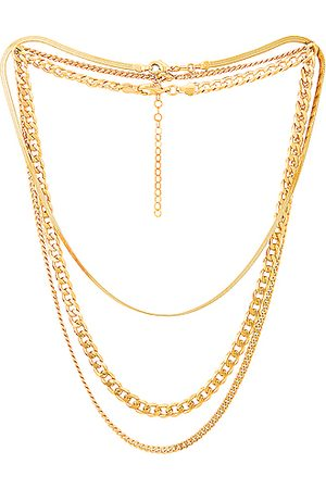 Jordan Road Jewelry Necklaces - For FWRD Sydney Necklace Stack in Metallic