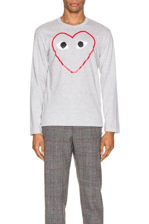 Comme des Garçons Long Sleeve - Heart Logo Long Sleeve Tee in Novelty