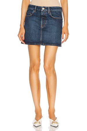 Balenciaga Low Waist Mini Skirt in Denim Dark