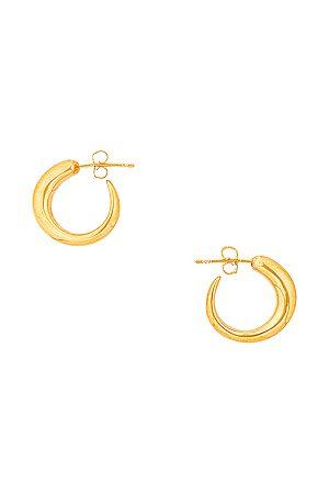 Khiry Tiny Nude Khartoum Hoop Earrings in Metallic