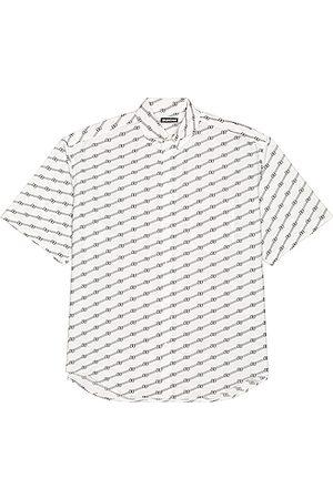 Balenciaga Short Sleeve Large Fit Shirt in ,Stripes