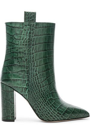 PARIS TEXAS Croco Ankle Boot in
