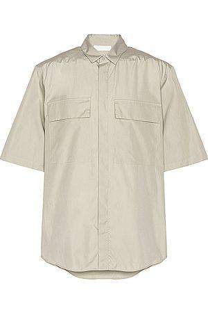 Fear of God Exclusively for Ermenegildo Zegna Oversized Short Sleeve Shirt in Neutral