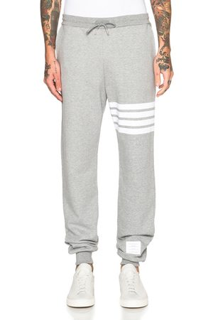 Thom Browne Cotton Sweatpants in Grey