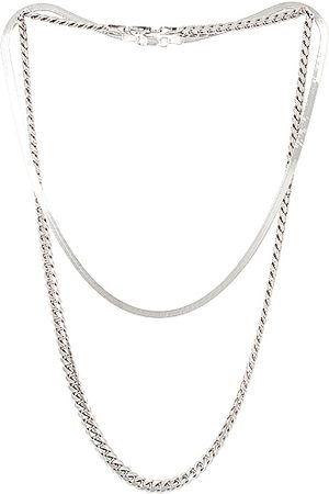 Jordan Road Jewelry Necklaces - For FWRD Chelsea Necklace Stack in Metallic