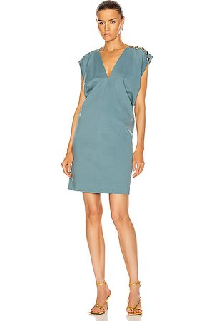Givenchy Party Dresses - Button Sleeveless Draped Dress in