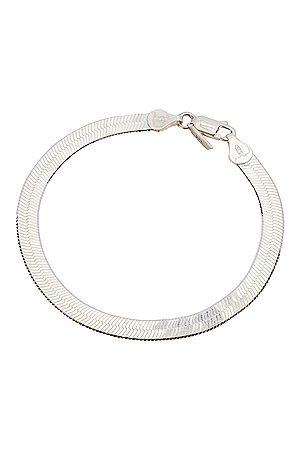 LOREN STEWART Bracelets - XL Herringbone Bracelet in Metallic