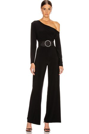 Norma Kamali Long Sleeve Drop Shoulder Jumpsuit in