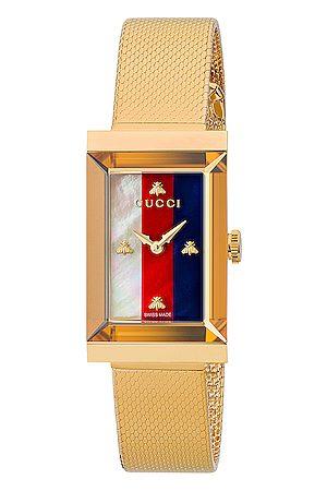 Gucci Mesh Bracelet Watch in Metallic