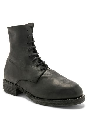GUIDI Lace-up Boots - Leather Lace Up Boots in