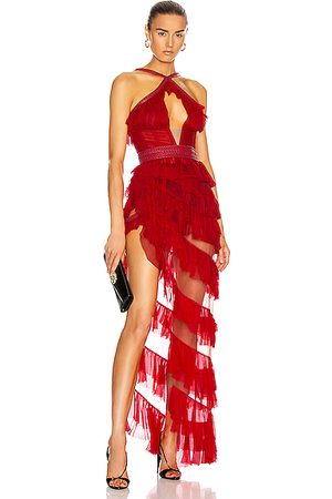 Aadnevik Women Asymmetrical Dresses - Asymmetric Ruffle Bustier Dress in