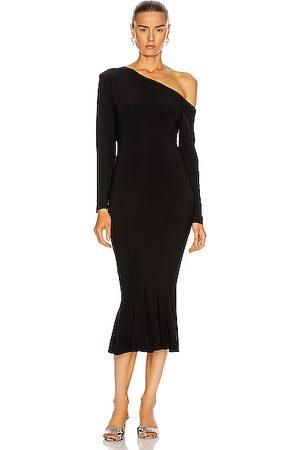 Norma Kamali Women Dresses - Long Sleeve Drop Shoulder Fishtail Dress in