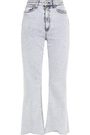RAG&BONE Woman Nina Acid-wash High-rise Kick-flare Jeans Light Size 23
