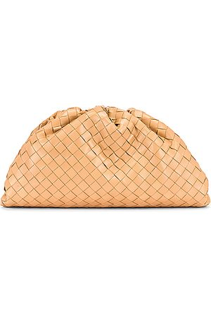 Bottega Veneta Woven The Pouch Clutch in Nude
