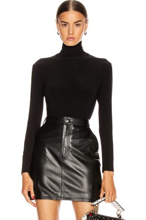 Norma Kamali Long Sleeve Turtleneck Bodysuit in