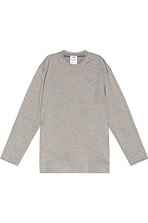 Y-3 Chest Logo Long Sleeve Tee in