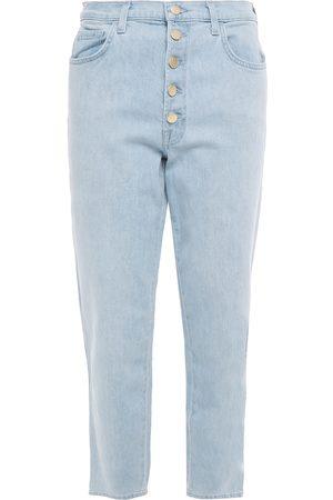J Brand Women High Waisted - Woman Joan High-rise Straight-leg Jeans Light Denim Size 25