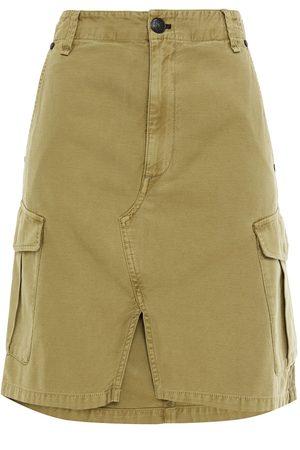RAG&BONE Woman Striped Cotton-canvas Skirt Army Size 24