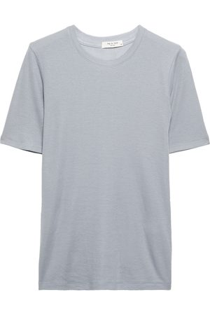 RAG&BONE Woman Ribbed Cotton And Modal-blend Jersey T-shirt Slate Size L