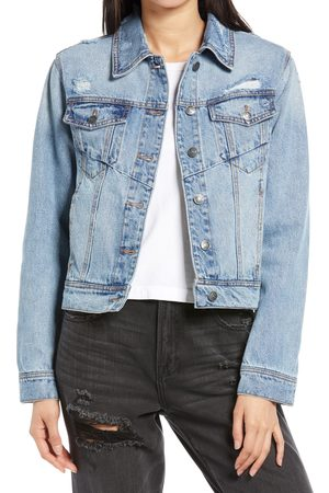 HIDDEN JEANS Women's Fitted Denim Trucker Jacket