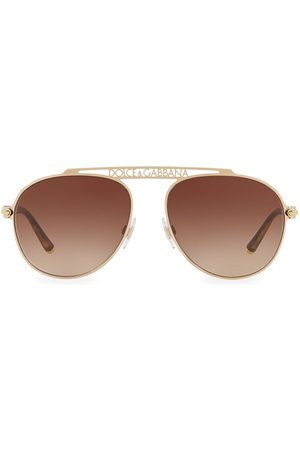 Dolce & Gabbana Women's 57MM Logo Aviator Sunglasses