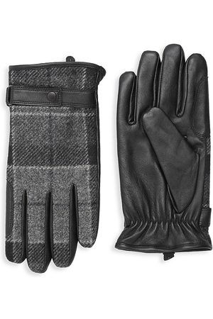 Barbour Men's Newbrough Tartan Gloves - Grey - Size XL