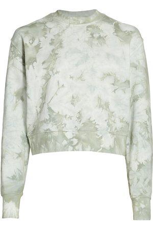 Jonathan Simkhai Standard Women's Tie-Dye Cropped Sweatshirt - - Size Medium