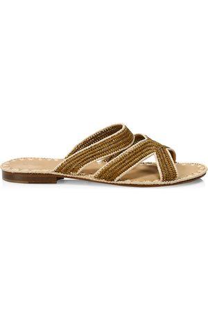 Carrie Forbes Ela Raffia Slide Sandals
