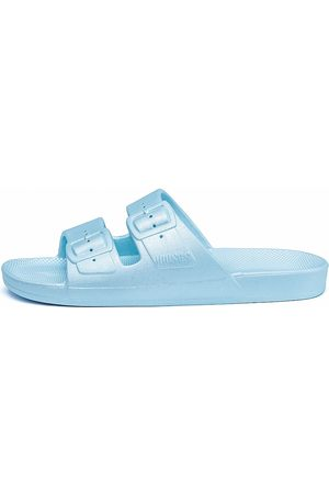 Freedom Moses Women Sandals - Women's Metallic Plastic Pool Slides - - Size 8 Sandals
