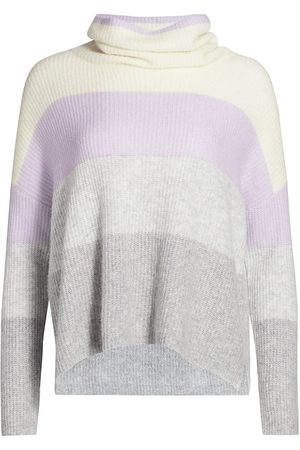 Splendid Women Sweaters - Women's Stripe Funnel Neck Sweater