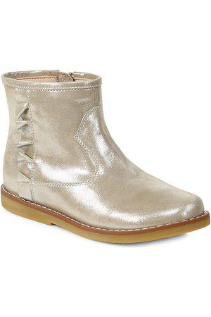Elephantito Girls Boots - Girl's Metallic Leather Boots - - Size 6 (Child)