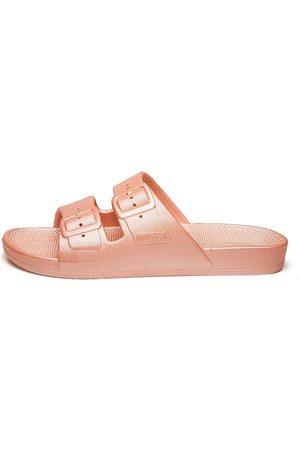 Freedom Moses Women's Metallic Plastic Pool Slides - - Size 7 Sandals