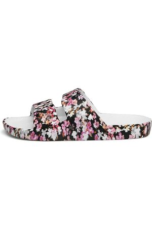 Freedom Moses Women's Floral Plastic Pool Slides - - Size 9 Sandals