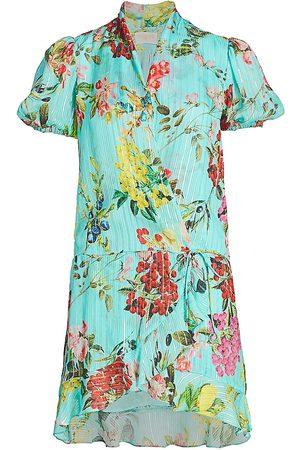 ROCOCO SAND Women's Coastal Print Wrap Dress - - Size Medium