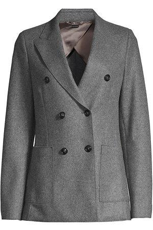 SEVENTY BY SERGIO TEGON Women's Flannel Double-Breasted Blazer - - Size 46 (10)
