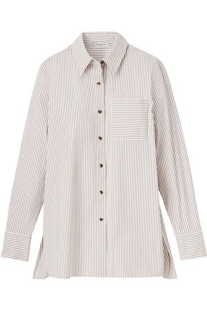 Lafayette 148 New York Women's Greyson Striped Button-Up Blouse - - Size Small