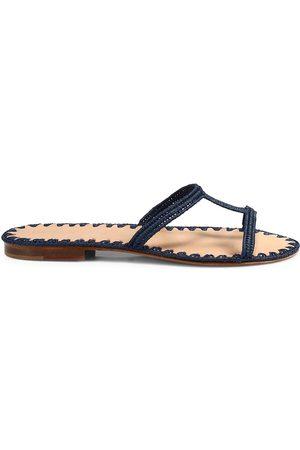 Carrie Forbes Women's Iris Raffia Slide Sandals - - Size 40 (10)