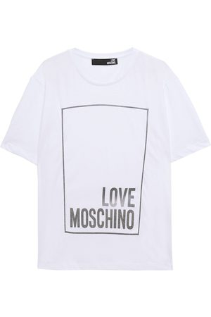 Love Moschino Woman Appliquéd Cotton-jersey T-shirt Size 38