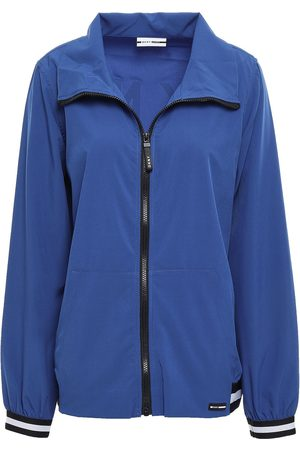 DKNY Woman Printed Stretch-jersey Track Jacket Cobalt Size M