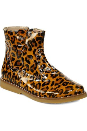 Elephantito Girl's Madison Leather -Print Ankle Boots - - Size 6 (Child)