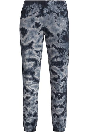 MONROW Women's Crystal Tie-Dye Boyfriend Sweatpants - - Size Large