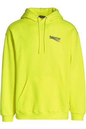 Balenciaga Men's Fluorescent Hoodie - - Size Large