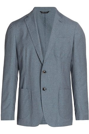 Saks Fifth Avenue Men's COLLECTION Micro-Grid Jacket - - Size 40 R